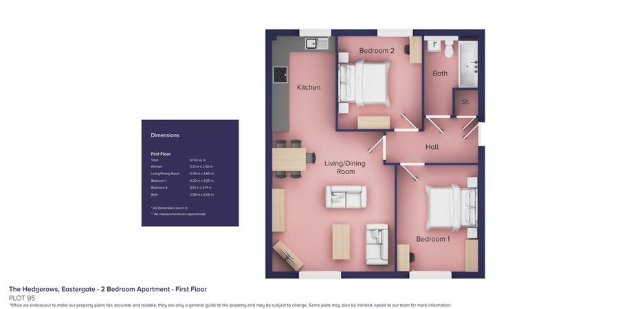 The Hedgerows, Eastergate - 2 bed apartment in Chichester - West Sussex