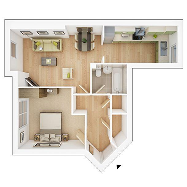 Vale View at Willow Lake - 1 bed apartment in Milton Keynes - Milton Keynes