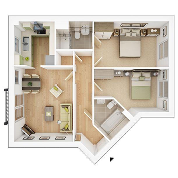 Vale View at Willow Lake - 2 bed apartment in Milton Keynes - Milton Keynes