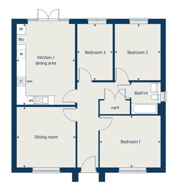 Fletcher's Rise - 3 bed house in Wombourne - Staffordshire