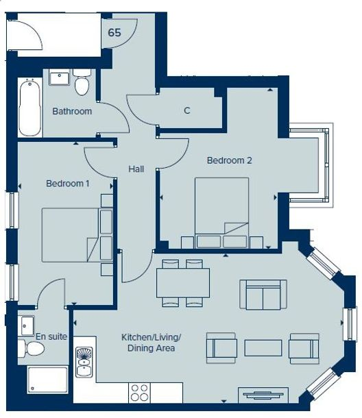 Manor House at Bournville Park - 2 bed apartment in Northfield - Birmingham