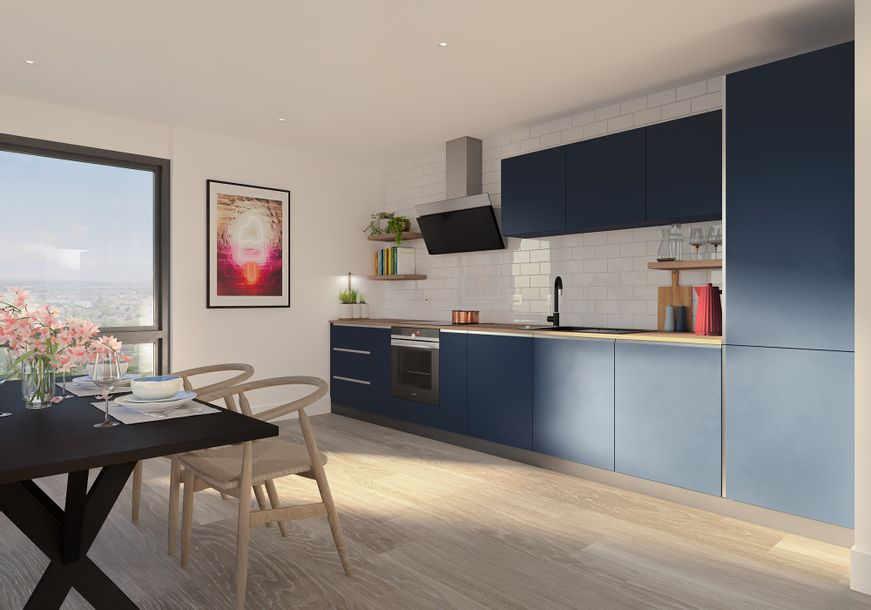 Home X, Brighton - 1 bed apartment in Moulsecomb - City of Brighton and Hove