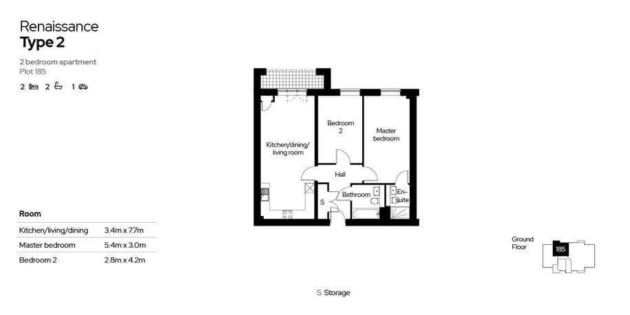 Renaissance - 2 bed apartment in Reading - Reading
